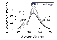 Fluorescence emission spectra of Amino Blue™